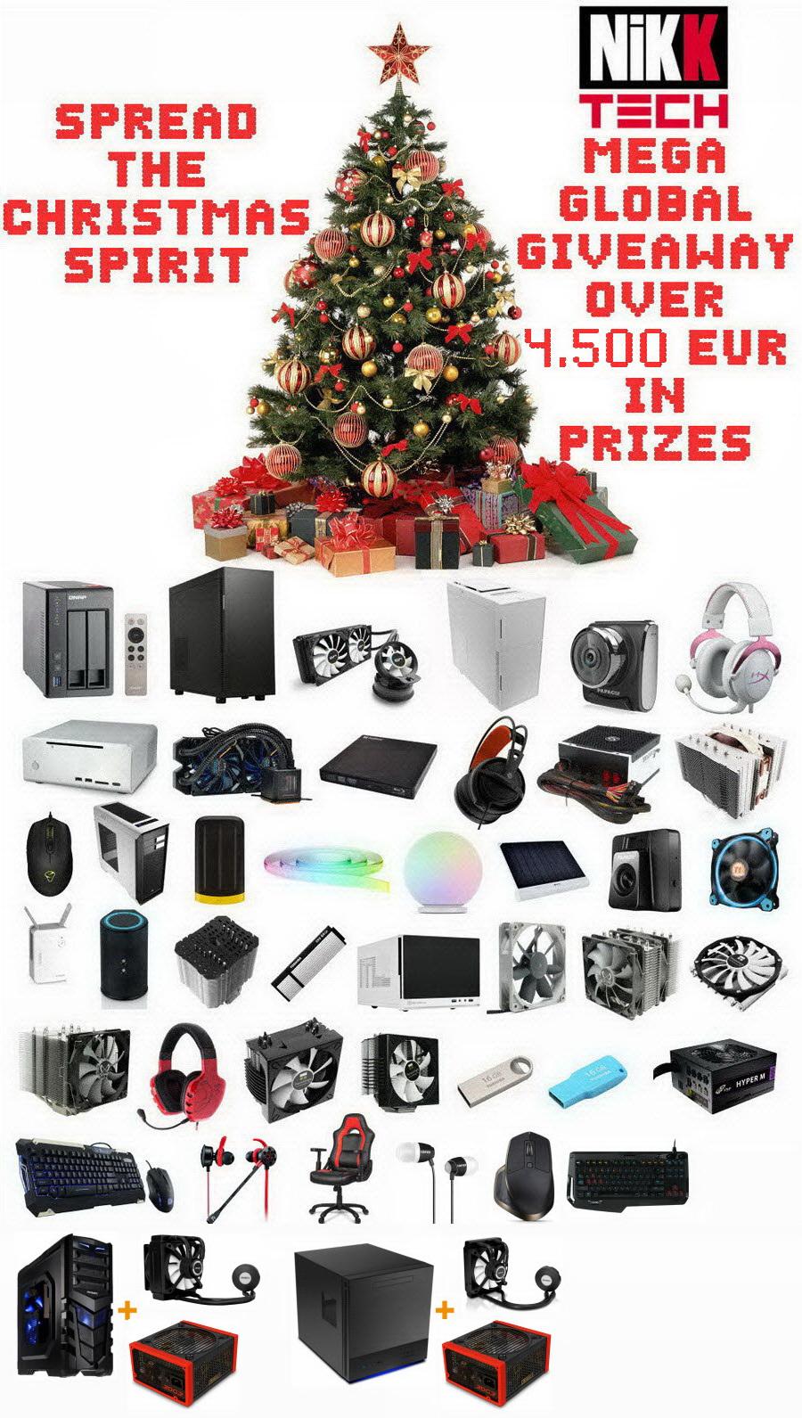 58 - Spread The Christmas Spirit Mega Global Giveaway - Over