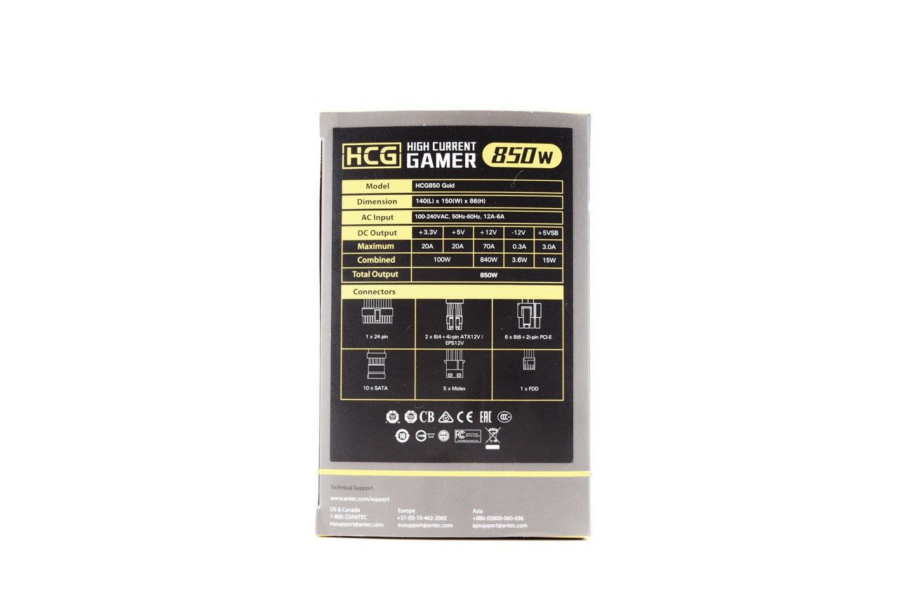 Antec HCG 850W Gold Power Supply Unit Review