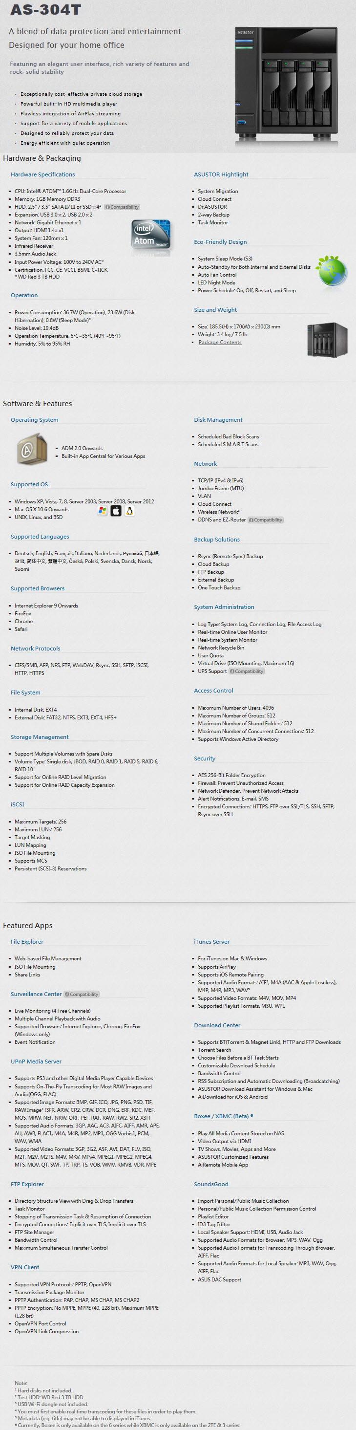 ASUSTOR AS-304T NAS Server Review