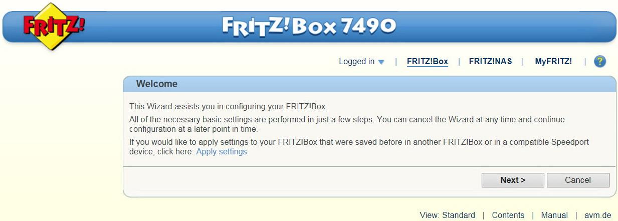 Fritz! Box 7560 Configuration And Operation