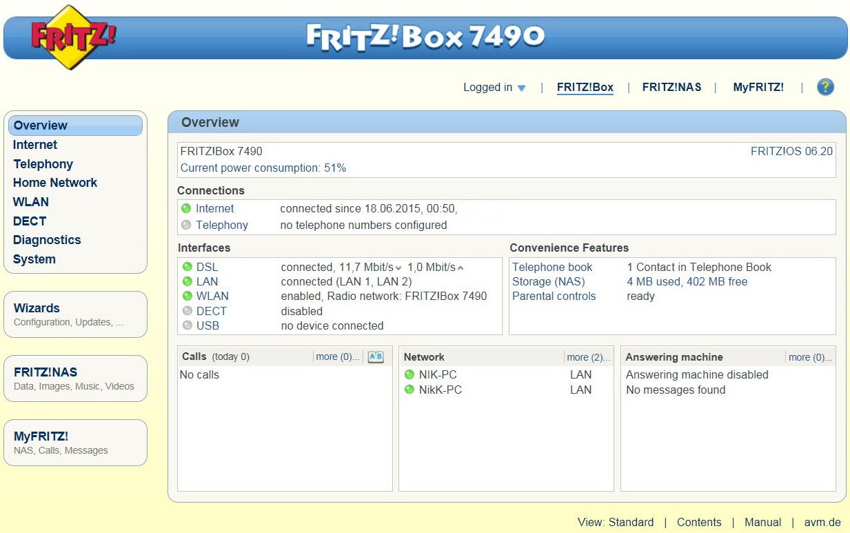 Avm fritz box 7490 ac1750 gigabit modem router review - Fritzbox 7330 login ...