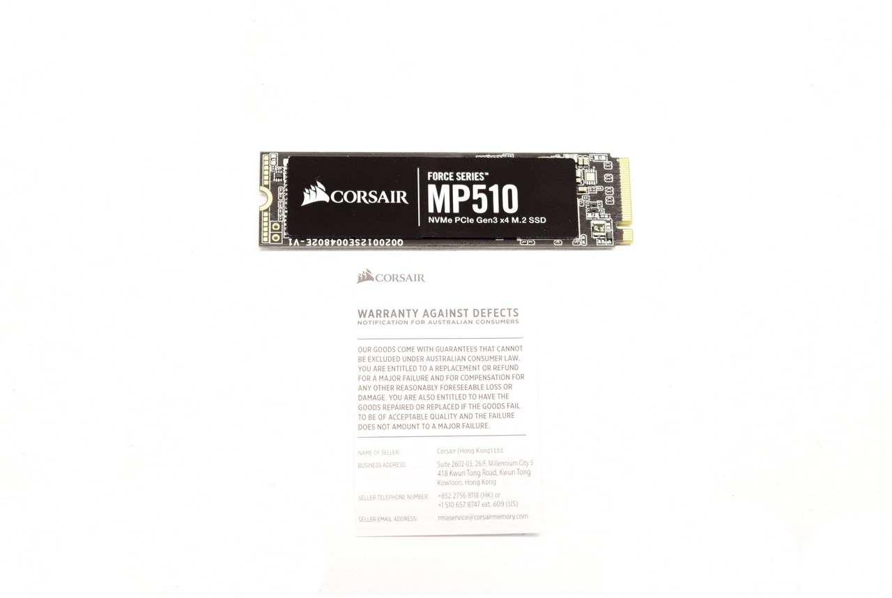 CORSAIR Force Series MP510 960GB NVMe PCIe M 2 SSD Review