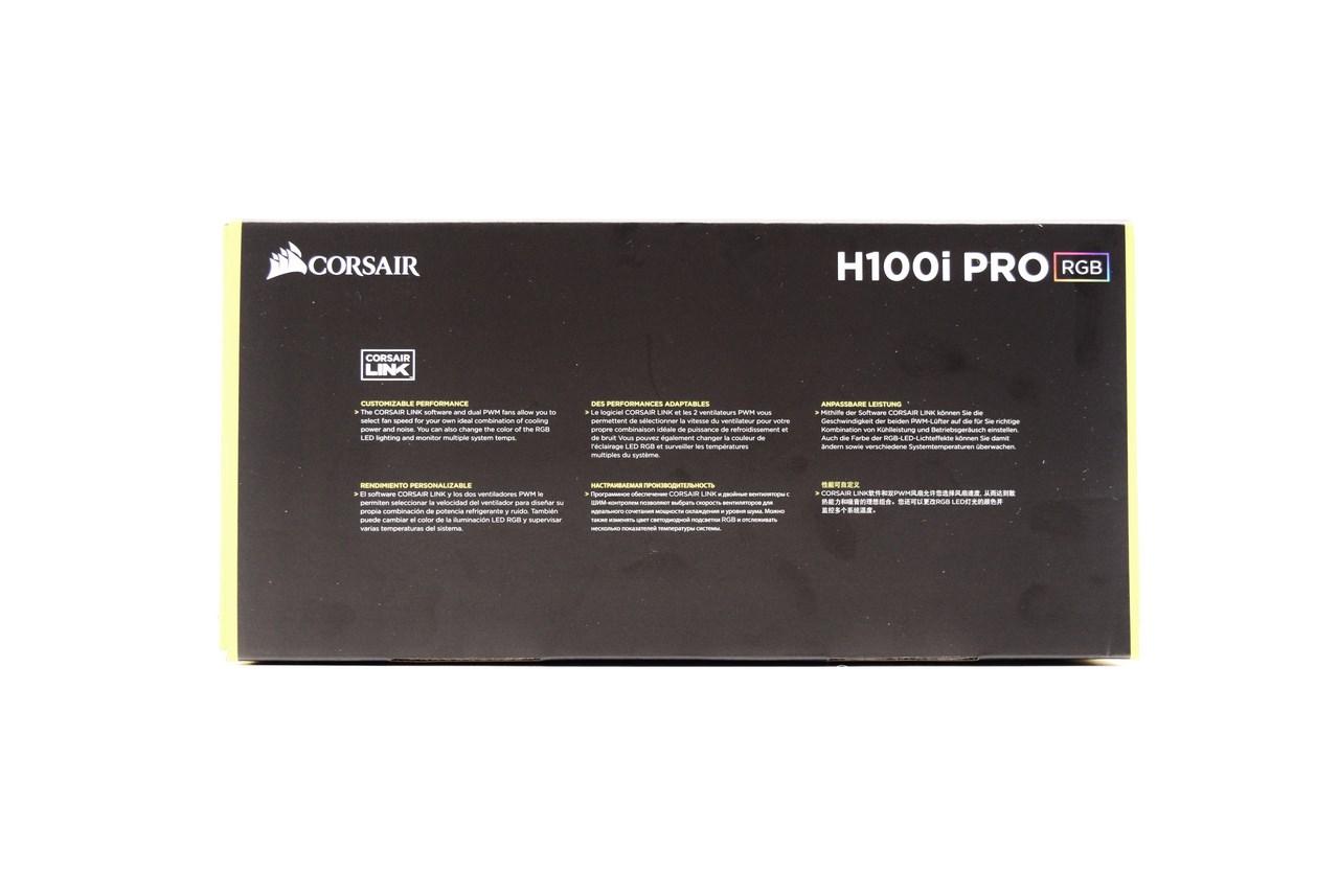 CORSAIR Hydro H100i Pro RGB Low Noise 240mm RGB Liquid CPU