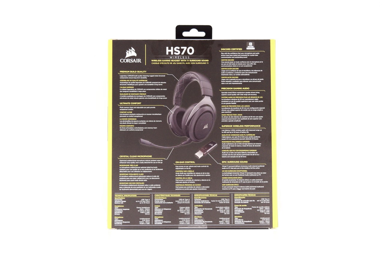 CORSAIR HS70 Wireless Gaming Headset With 7 1 Surround Sound Review