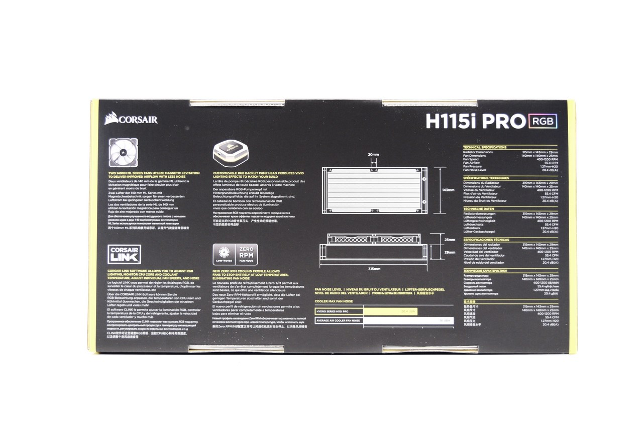 CORSAIR Hydro H115i Pro Low Noise 280mm RGB Liquid CPU ...
