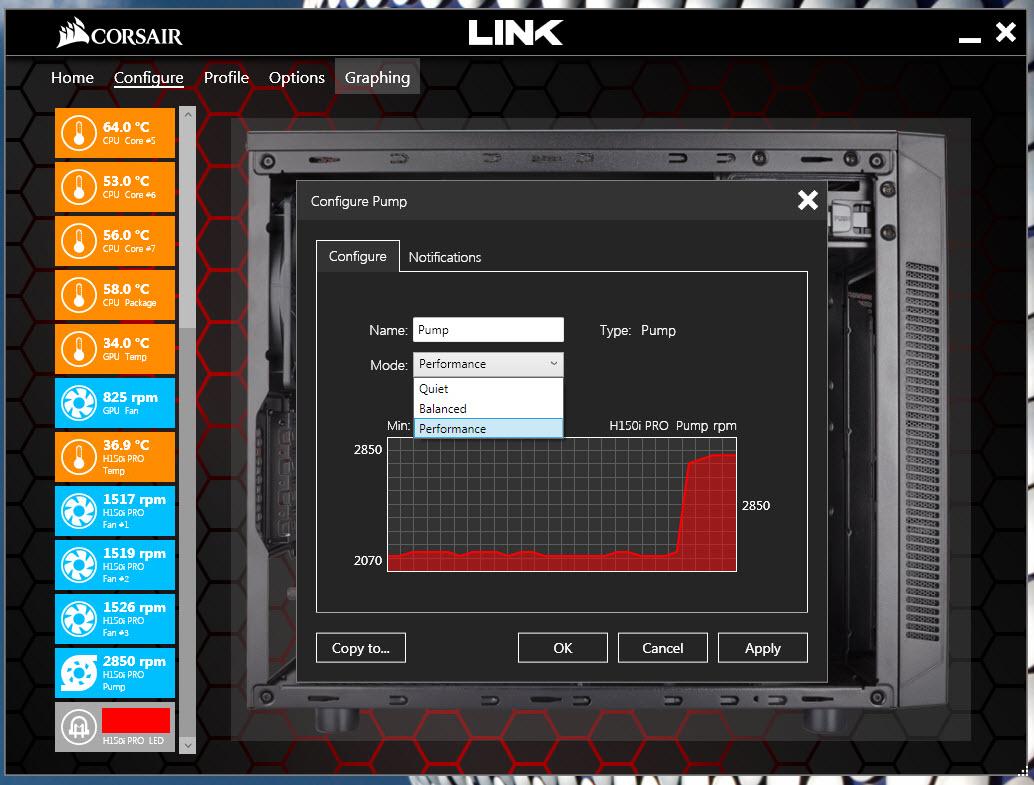 CORSAIR Hydro H150i Pro Low Noise 360mm RGB Liquid CPU
