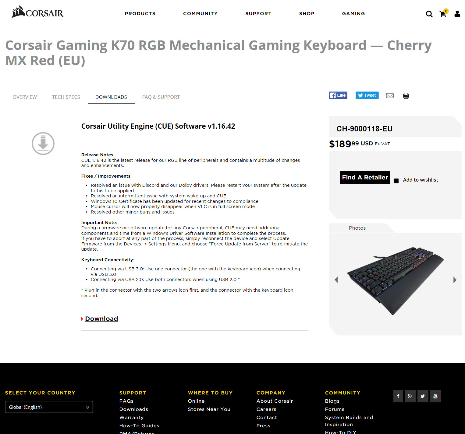 how to check firmware on k70 keyboard site forum.corsair.com