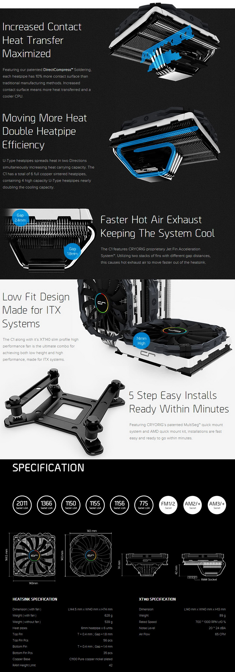 Cryorig C1 Top Down Cpu Cooler Review
