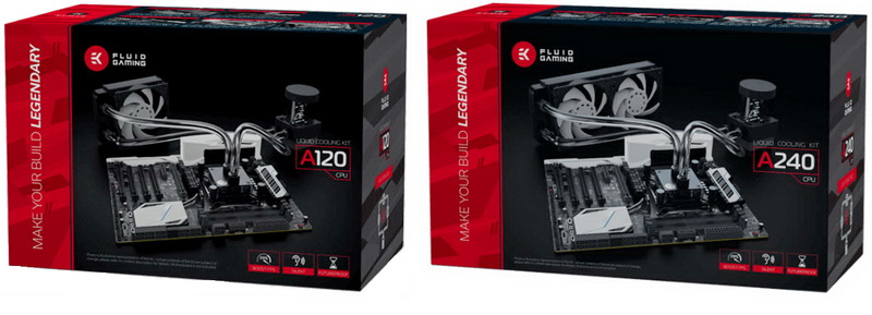 EK Fluid Gaming A120 & A240 Liquid CPU Cooling Sets Review