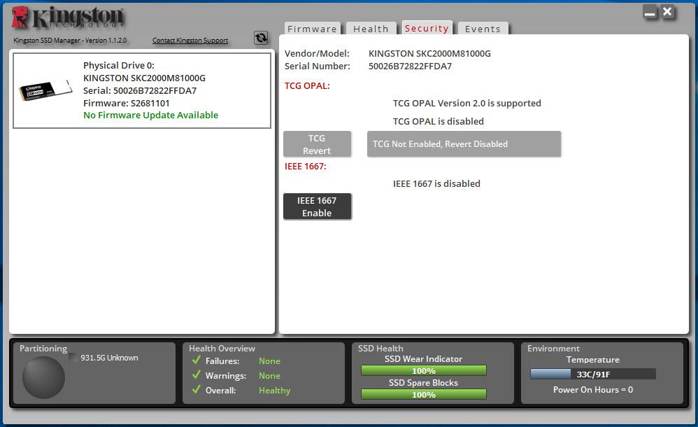 Kingston KC2000 1TB M 2 NVMe SSD Review