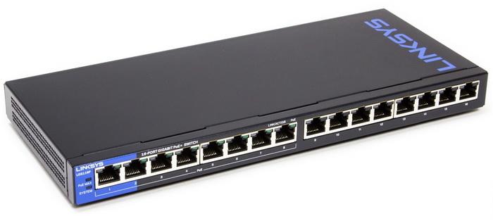 Linksys LGS116P 16-Port Business Desktop Gigabit PoE+ Switch