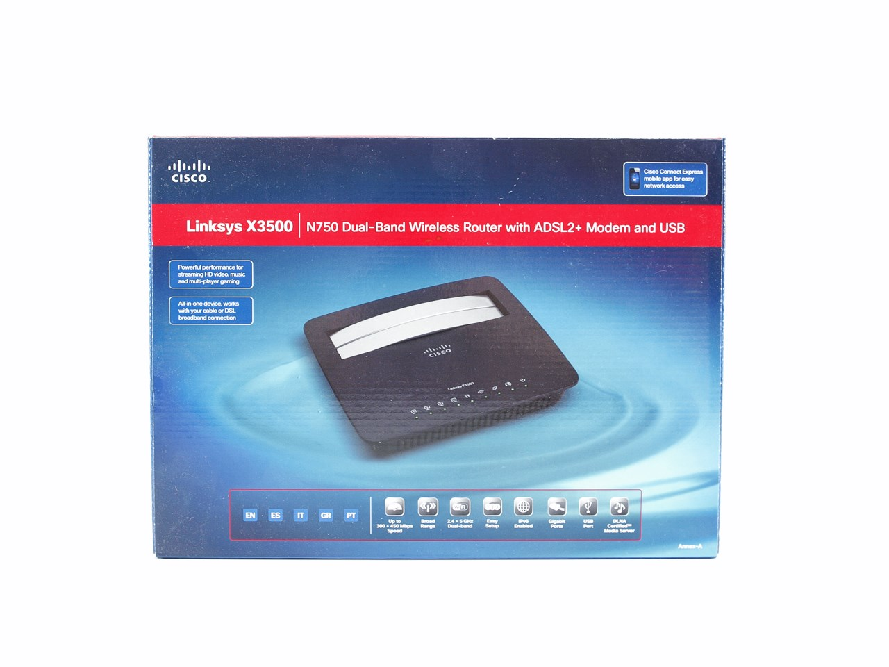 linksys x3500 n750 dualband wireless modemrouter review