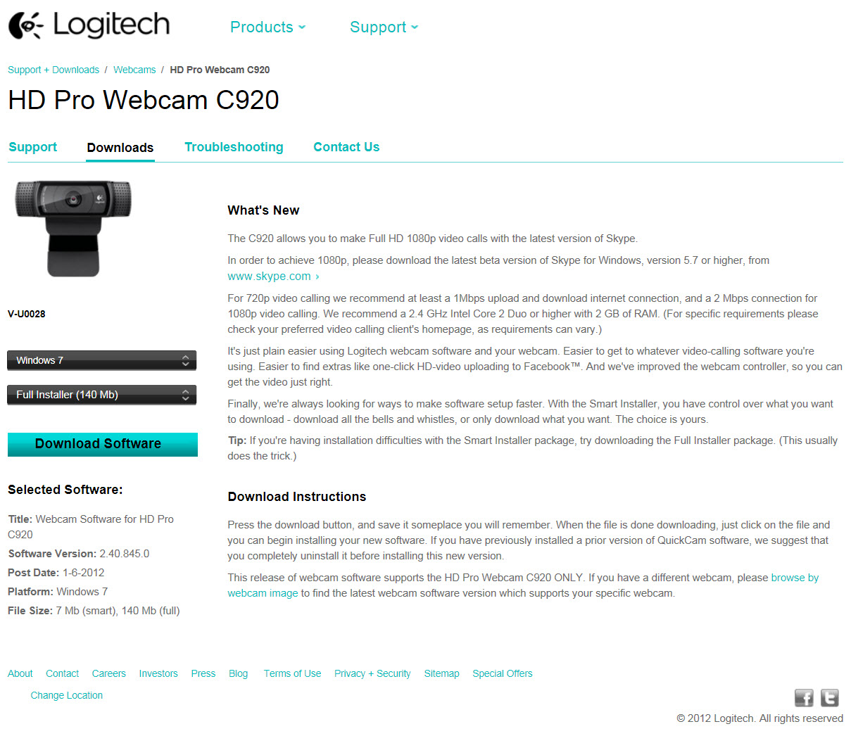 logitech c920 driver windows 10 64 bit