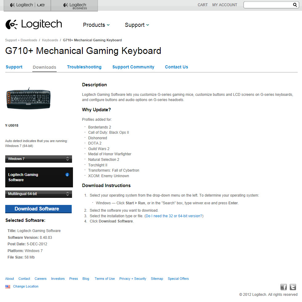 Logitech G710+ Mechanical Gaming Keyboard Review