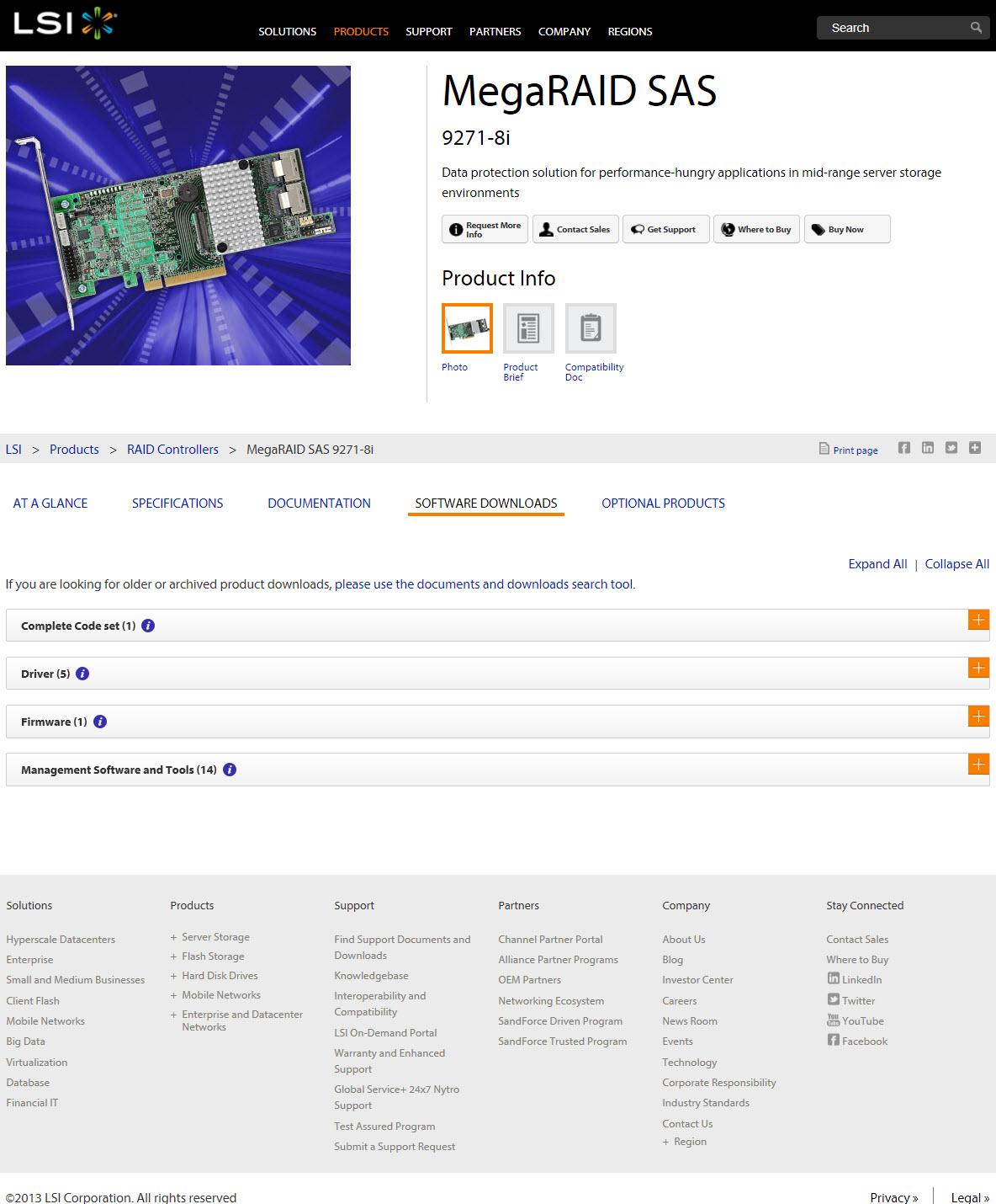 lsi megaraid sas 9266-8i firmware download