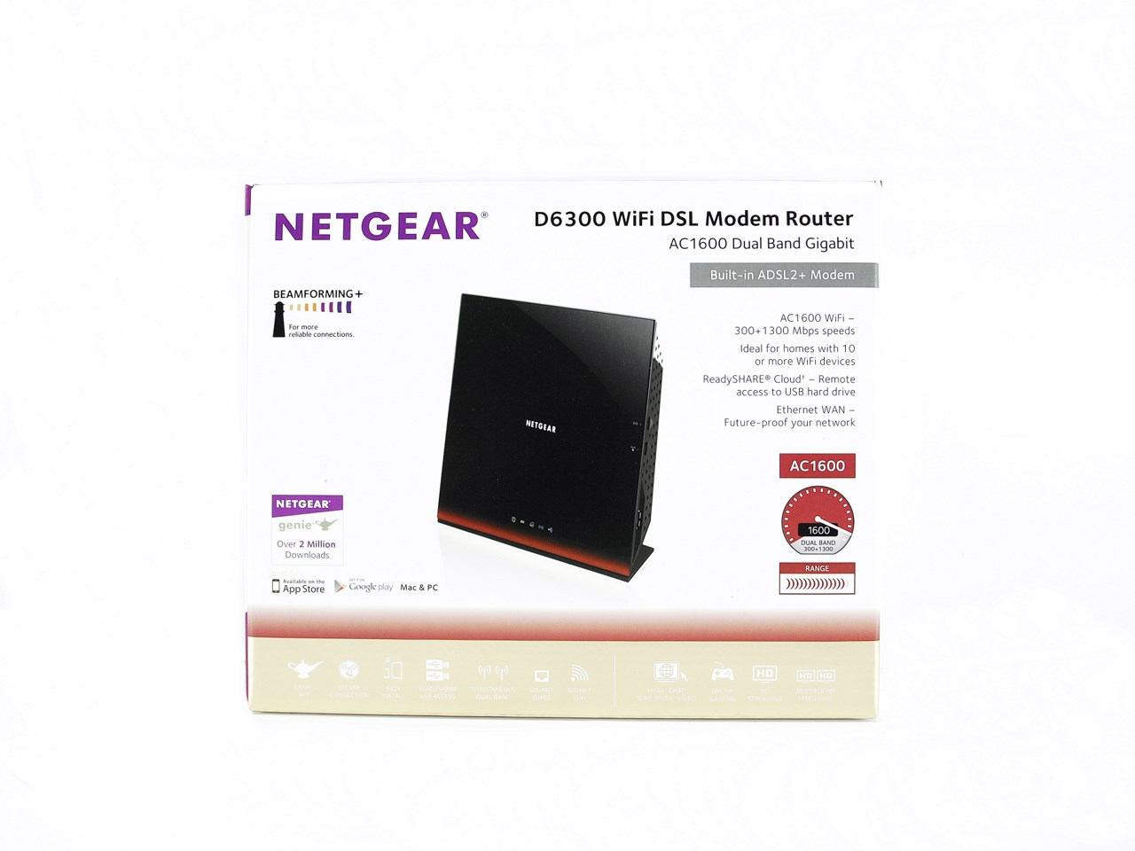 Netgear D6300 Ac1600 Dual Band Gigabit Modem Router Review How To Hook Up Wireless Dsl Apps Directories 01t
