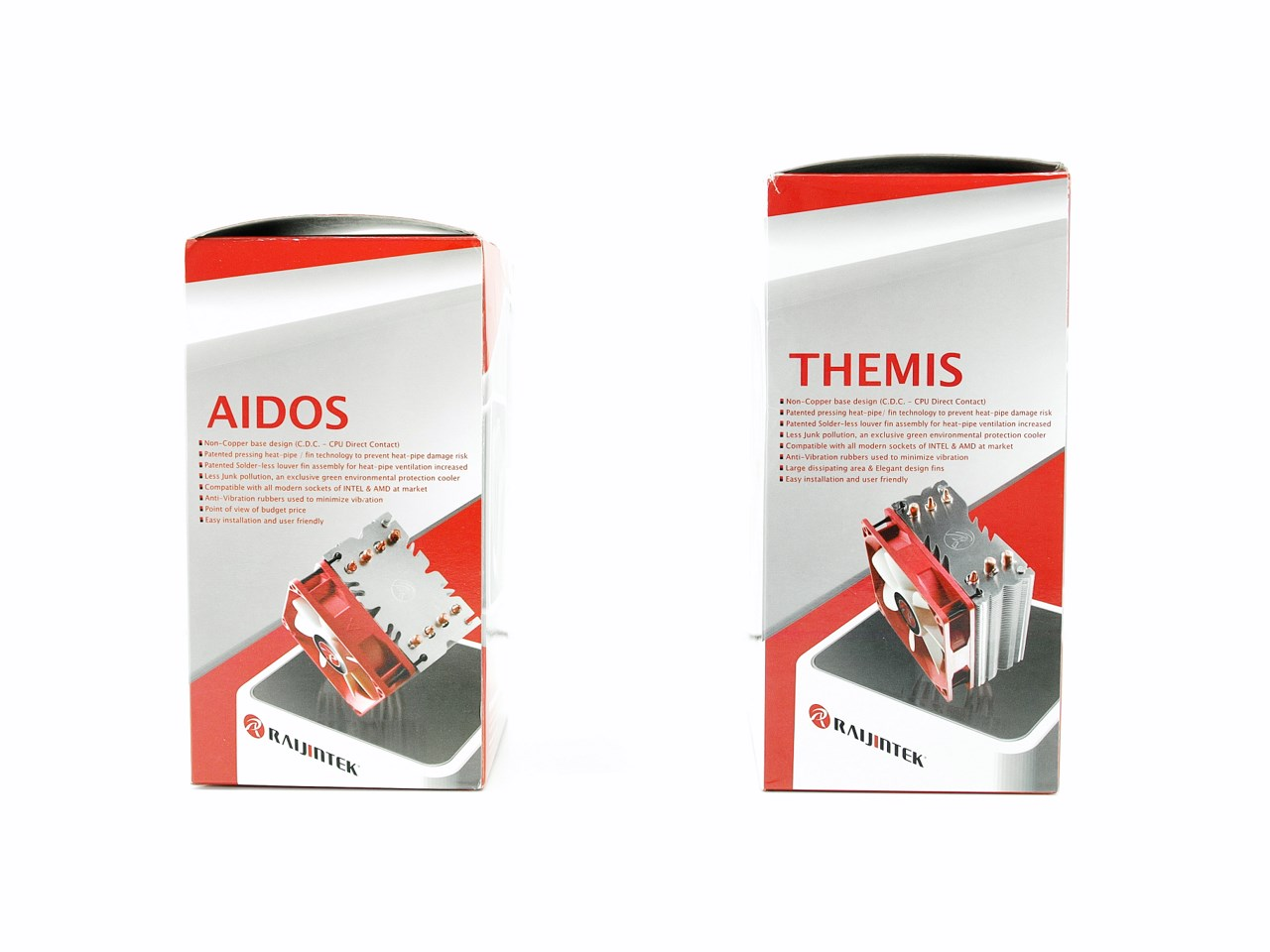 Raijintek Aidos & Themis CPU Coolers Review