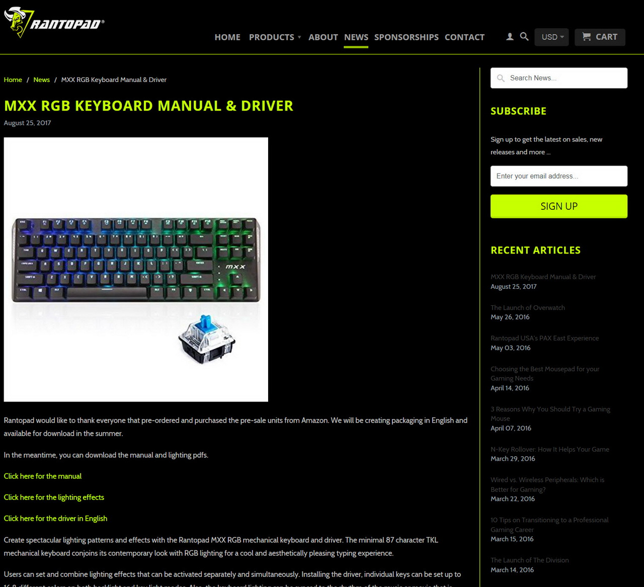 Rantopad MXX RGB Mechanical Gaming Keyboard Review