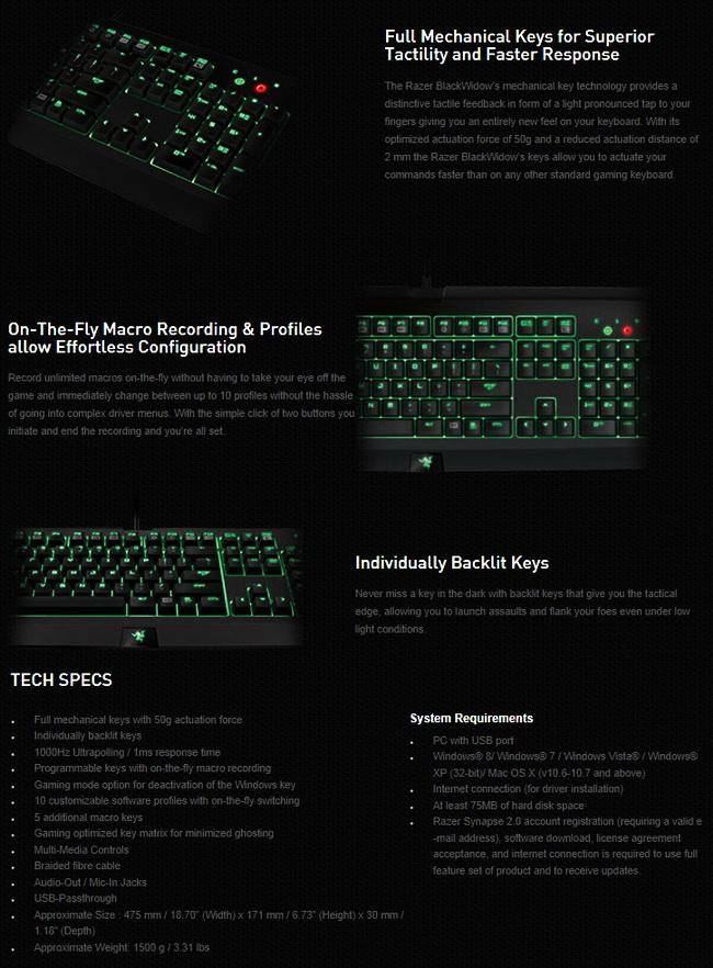 Razer BlackWidow Ultimate Mechanical Gaming Keyboard Review