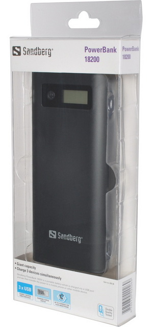 sandberg powerbank 18200a