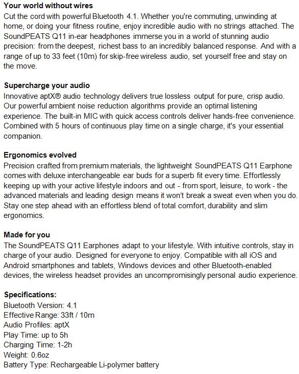 Soundpeats Q11 Sport Bluetooth Headphones Review