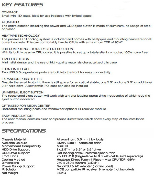 Streacom ST-FC8B EVO Mini ITX Case Review