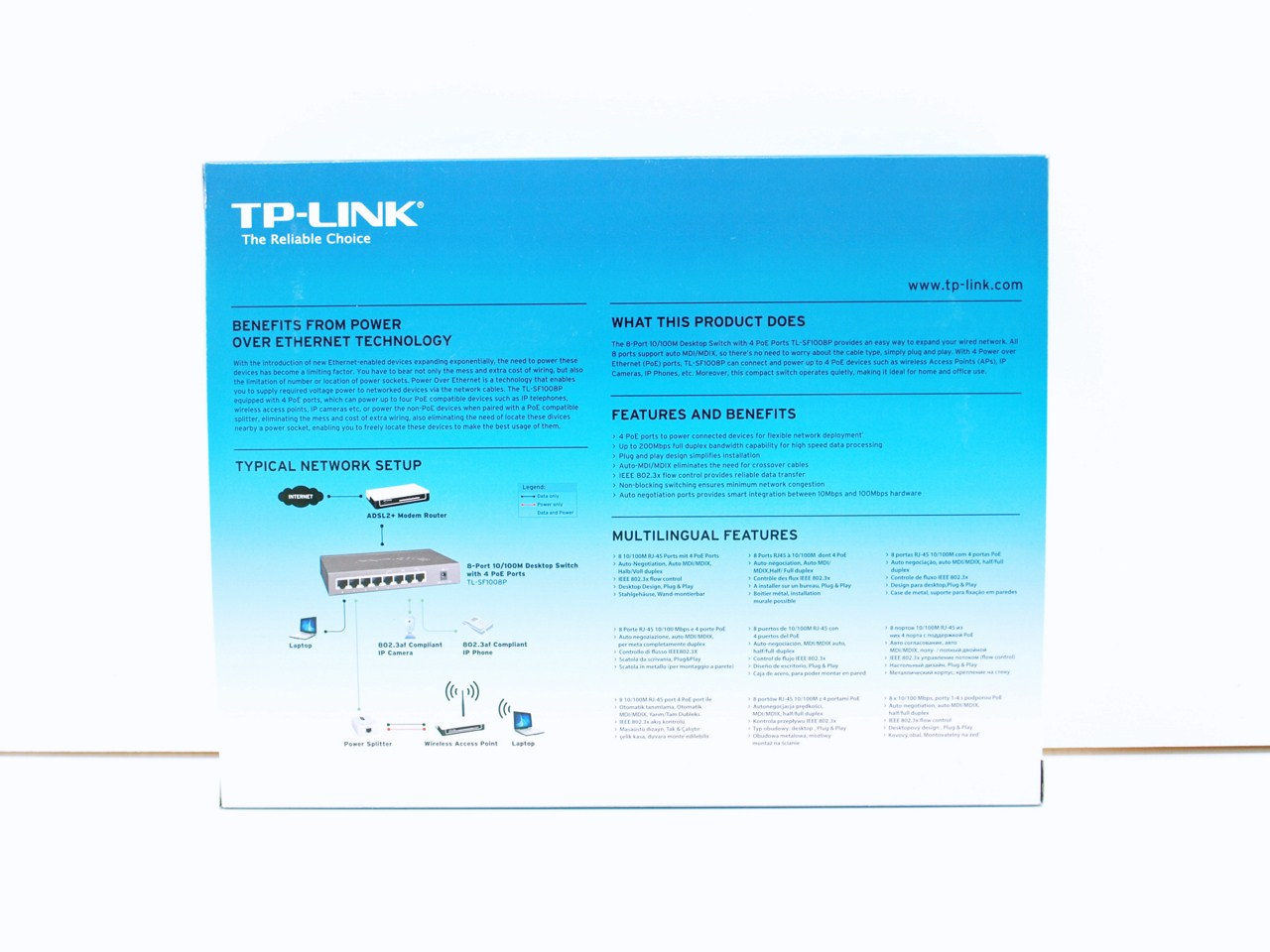 Tp Link Tl Sf1008p 8 Port 10 100mbps Desktop Poe Switch Review Diagram Router Modem Also Nutanix On Networking A Topology Right Next To The Units Features Are Placed At Rear Of Box