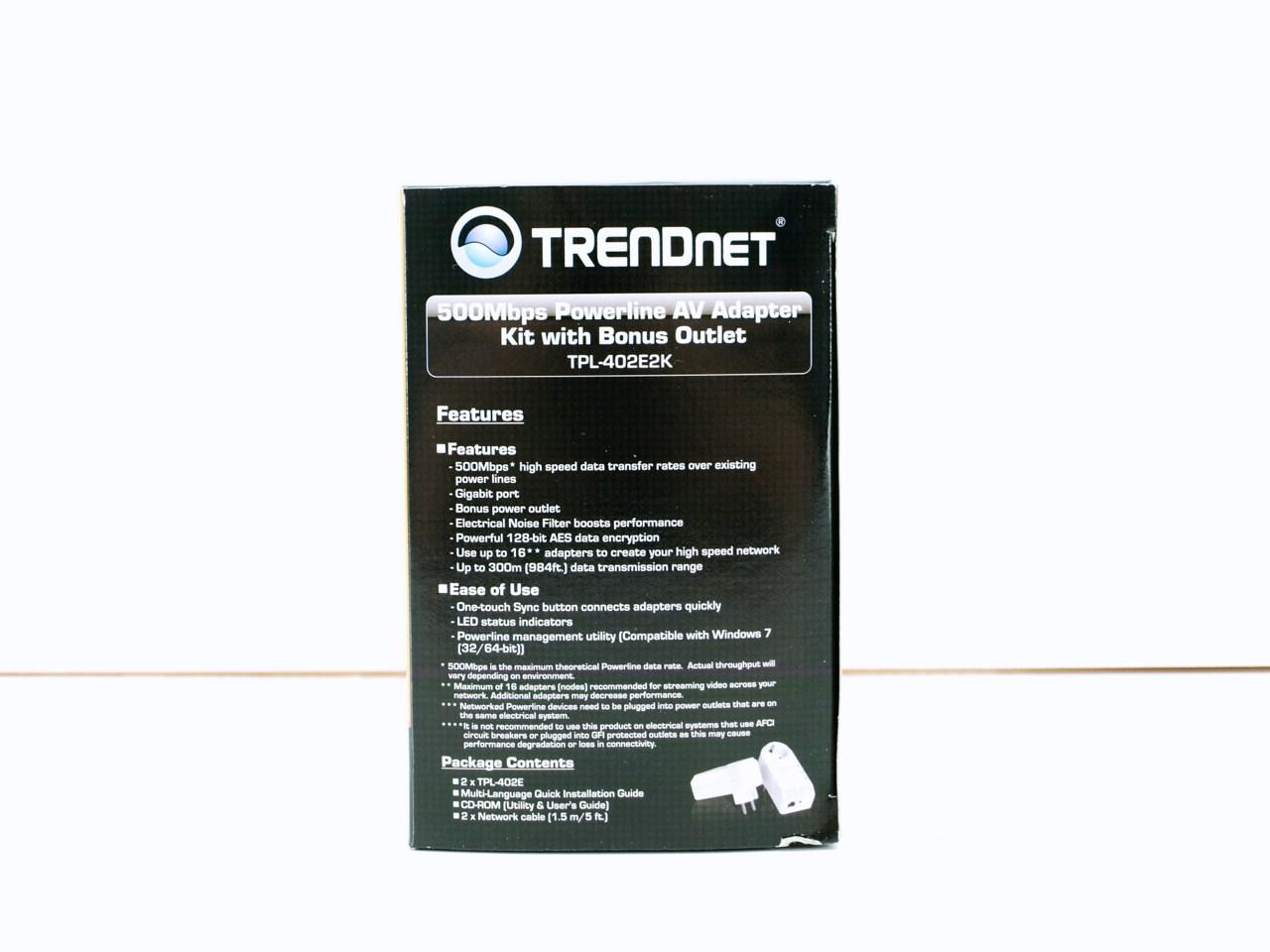 TRENDnet TPL-402E2K Powerline Driver Windows 7