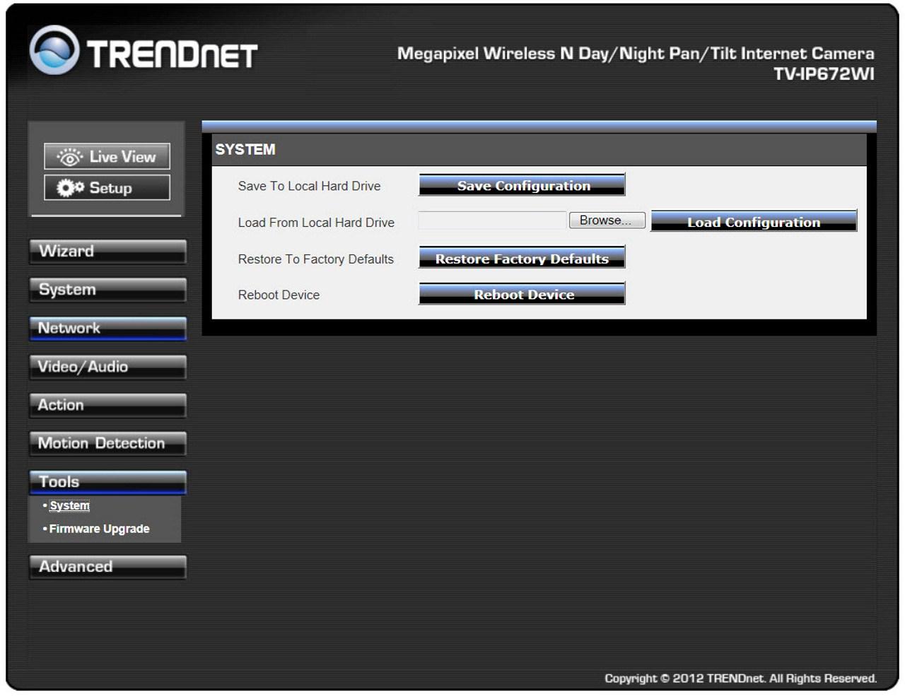 TRENDnet TV-IP672WI Megapixel Wireless Day/Night PTZ IP ...